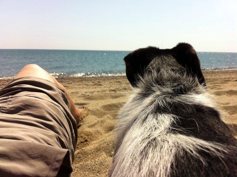 Pampa et moi à la mer